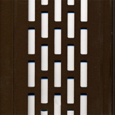 rubbed bronze perforated aluminum panels
